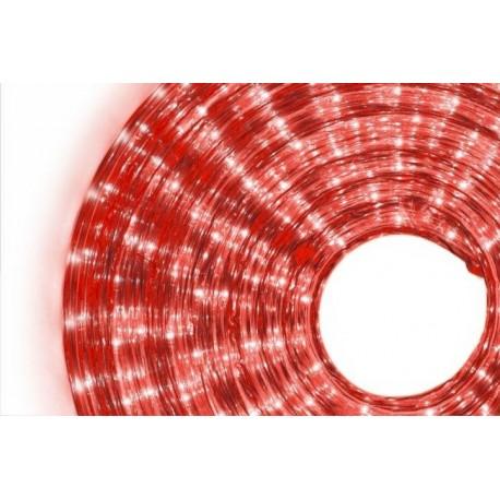 Wąż świetlny 360 mini żarówek, 10 m, czerwony