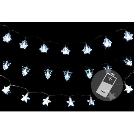 Lampki świąteczne 3 łańcuchy 20 LED zimny biały